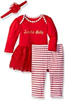Vitamins Baby Girls' Sparkle Perfect Picture 3 Piece Pant Set, Twirl, 6 Months