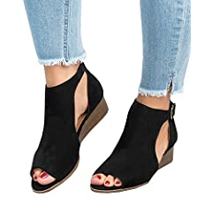 8811ae614f79 Summer Women s Cutout Peep Toe Leather Booties - Casual Women s Shoes