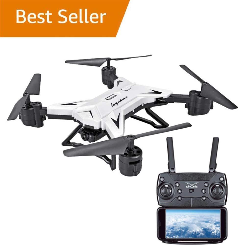 Weiß WANGKM WiFi FPV RC-Drohne, 1080p FHD-Kamera FPV-Live-Video und GPS-Rückkehr nach Hause Funktion RC Quadcopter für Anfänger Kinder Erwachsene mit Follow Me, Höhenlage, Intelligente Batterie,Weiß