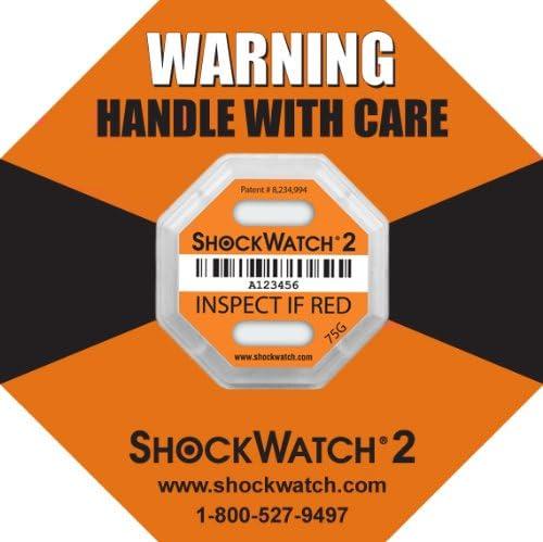 20 uds 75G Shockwatch 2 Indicador Impacto