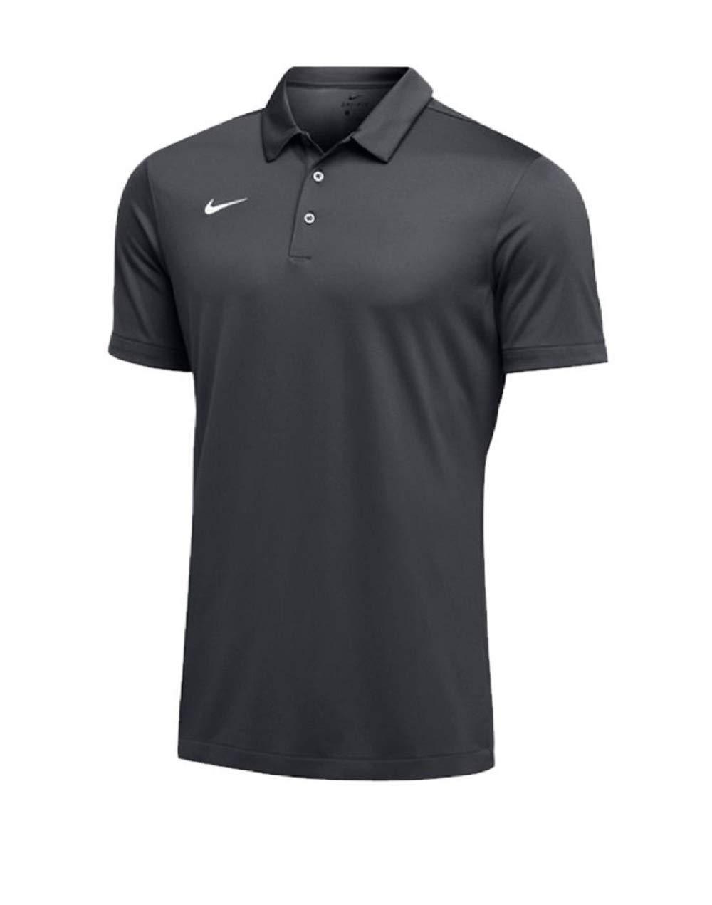 Nike Mens Dri-FIT Short Sleeve Polo Shirt (Medium, Anthracite)