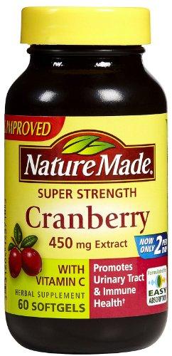Nature Made Strength Super, canneberges (450 mg Extracr) avec de la vitamine C, 60 gélules