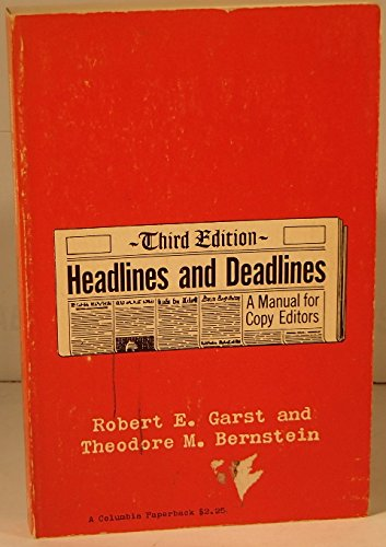 Garst: Headlines Dead (Cloth)