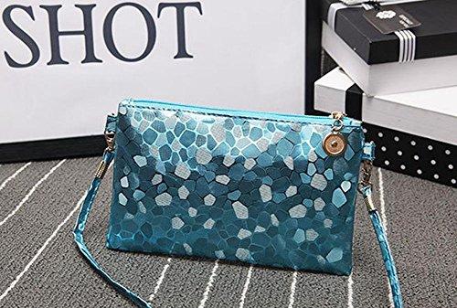 Vi Leather Sequins size 13 Purple 21 Mini Fashion Women yo Package Small Bag Party cm Shoulder Handbag Retro Blue Phone 3 pqwr8px