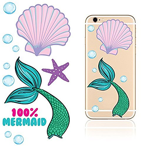 Amazoncom IDecoz Mermaid Reusable Vinyl Decal Sticker Sheet For - Vinyl decals for phone cases