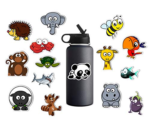 FantasticShop 15 Pcs Water Bottle Sticker, Waterproof Kids Animal Stickers, Aesthetic Stickers for Water Bottles Laptop Luggage and Computer