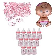 MonkeyJack Mini Pacifiers Charms Newborn Baby Shower Birthday Party Favors Baby Girl Balloon Candy Bottles