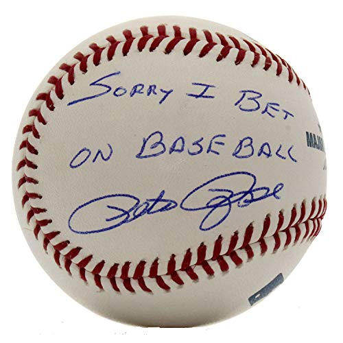 (Pete Rose Autographed Signed Rawlings Official MLB Baseball - Sorry I Bet On Baseball Inscription - JSA Certified Authentic)