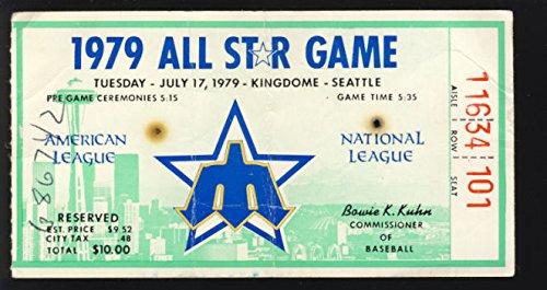 1979 Seattle MLB All Star Game Kingdome Ticket Stub (1979 Mlb All Star Game)