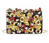 Prada Saffiano Garden Floral Crossbody Bag Floral Applique Misto 1BP003