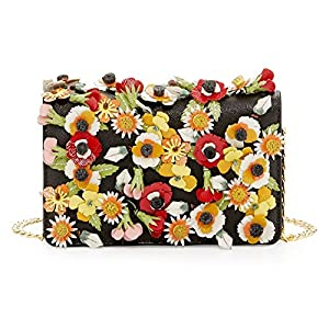 Prada Saffiano Garden Floral Applique Misto Designer Crossbody Bag for Women 1BP006