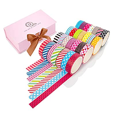 Premium 28 Rolls Washi Tape Gift Box Set from Gift Bee