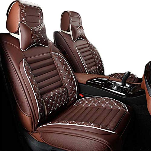 Car Seat Cover Protector Cushion for Leather Seats Black And Red, Fit for Most Car, Truck, Suv, Or Van Protector Front Or Back Seats Pad,Brown: