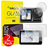 Tektide Lens Screen Protector Kit Compatible for DJI Osmo Action, [Temperted Glass] Optically Clear Scratch Resistent Touch Sensitive Easy Installation [2 Pack]
