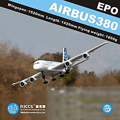 Toy, Play, Fun, A380 6CH RC airplanes aircraft model A380 airbus remote control electric model EPO, Children, Kids, Game