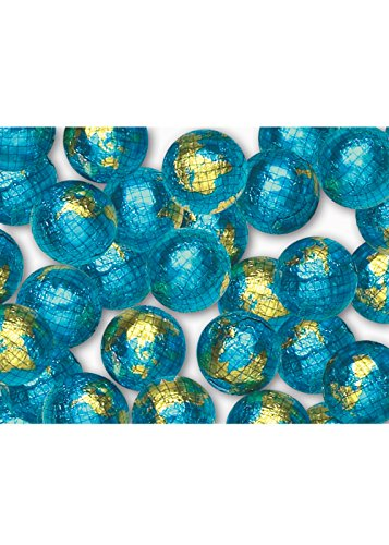 Madelaine Chocolate Company Globe Foiled Milk Chocolate Earth Balls, 1LB ()