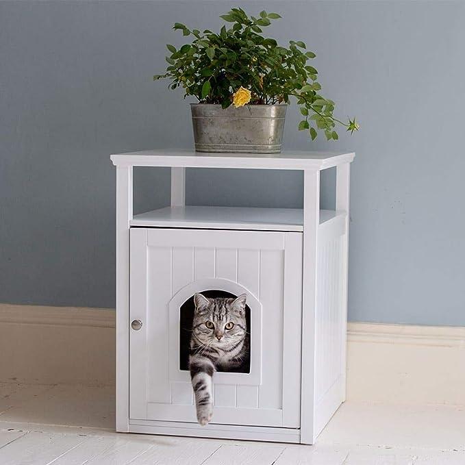 Lords & Labradors - Arenero de madera para gatos y bandeja de palisandro, color blanco: Amazon.es: Productos para mascotas