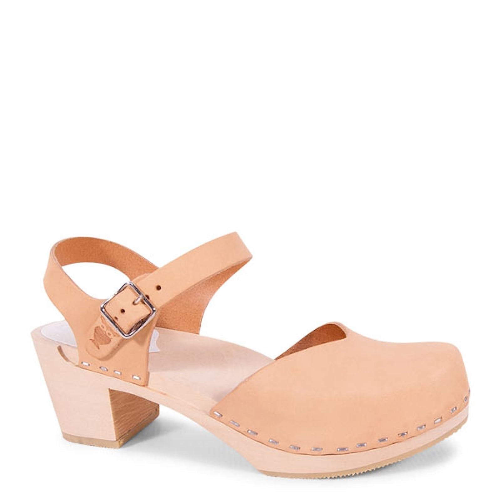 Sandgrens Swedish Wooden High Heel Clog Sandals - 1
