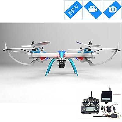 Special-edition Drone with Camera 5MP HD Camera Remote Control FPV Quadcopter -Blue & White