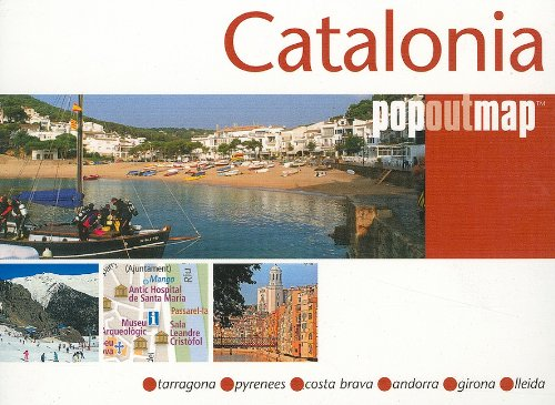 Catalonia PopOut Map (Popout Map Catalonia)