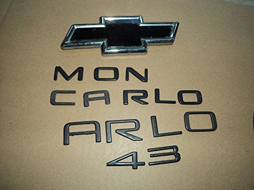 - CHEVY MONTE CARLO Z34 TAILGATE SIDE USED EMBLEMS LOGO FULL SET OF DECALS LOGOS
