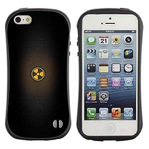 Suave TPU GEL Carcasa Funda Silicona Blando Estuche Caso de protección (para) Apple Iphone 5 / 5S / CECELL Phone case / / Warning Black Minimalistic Sign /