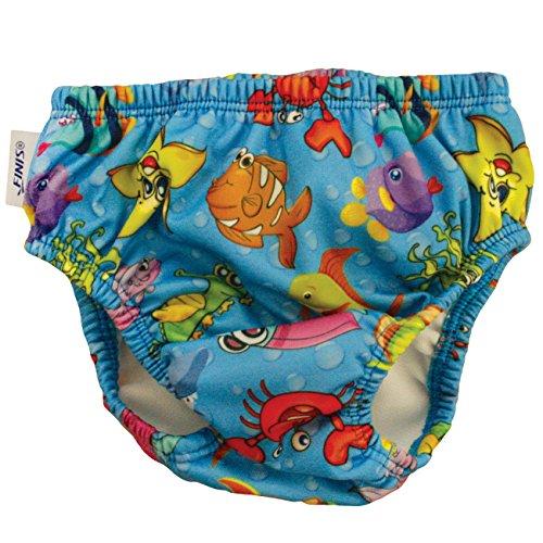 (FINIS Swim Diaper (Fishbowl Blue, XXL))