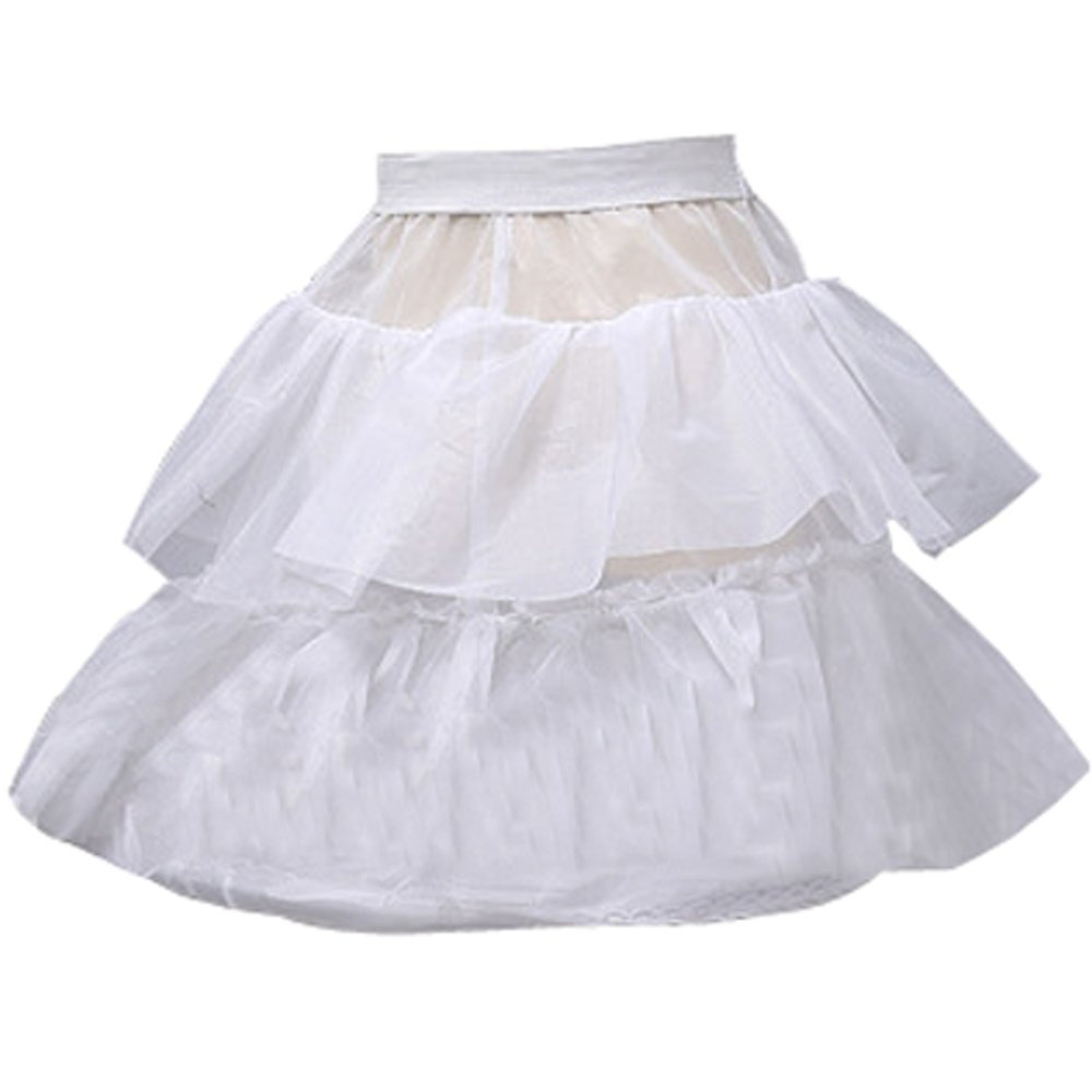 Castle Fairy Baby's 2 Layer Ruffles Wedding Flower Girl Petticoat Crinoline (one size)