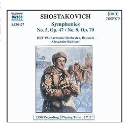 Shostakovich: Symphonies Nos. 5 And 9 by Alexander Rahbari