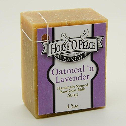 Handmade Herbal 100% Raw Goat Milk Lavender 'n Oatmeal Soap (4.5oz./Bar) (3 ()
