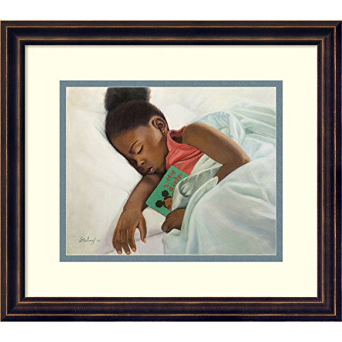 """Framed Art Print 'Little Sister' by Sterling Brown: Outer Size 16 x 14"""""""