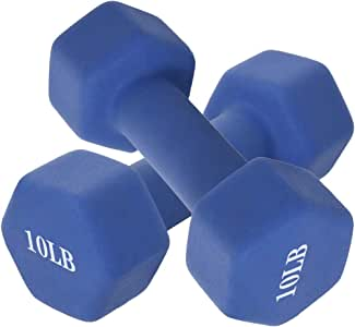 KLDJHNS Neoprene Coated Dumbbell 1 Pair, Dumb Bells Weights Set, Easy to Read Hand Weights for Muscle Toning, Strength Building, Weight Loss, 5 Weight Options, 6-15 LBS