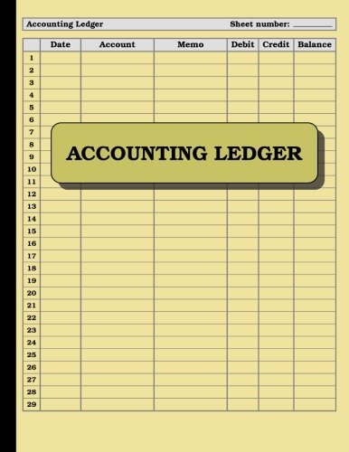 (Accounting Ledger: 120 pages: Size = 8.5 x 11 inches (double-sided), perfect binding, non-perforated)