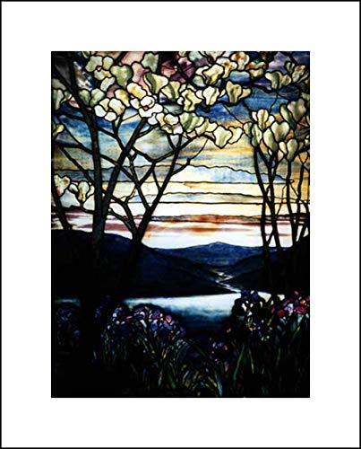 Louis Comfort Tiffany 16x20 Art Print - Magnolias and Irises (Magnolias And Irises By Louis Comfort Tiffany)