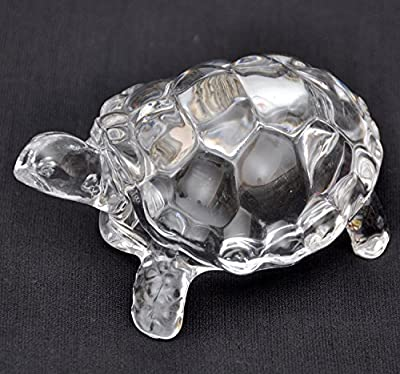 Petrichor Fengshui Vastu Original Clear Crystal Turtle for Peace & Prosperity