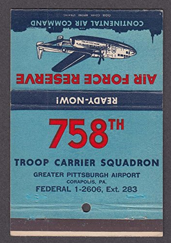 Air Force Reserve 758th Troop Carrier Squadron Pittsburgh Airport PA - Pa Pittsburgh Airport