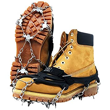 Traction Cleats with 18 Spikes for Walking Sand and Wet Grass Climbing and Hiking on Snow Gold Armour Traction Cleats Ice Snow Grips Mud Jogging Ice
