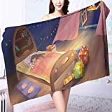 AmaPark Microfiber Towels The mysterious gift of Santa Claus Multipurpose, Quick Drying L55.1 x W27.5 INCH