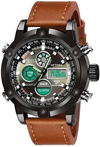 Optima Wrist Sport Analog Watches for Man  amp; Boys  Brown