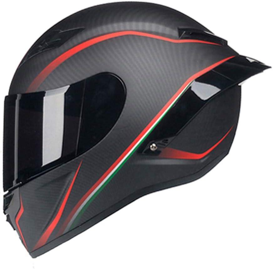 Woljay Casque de Moto Int/égral Course Scooter pour Adultes Grenouille Verte, S