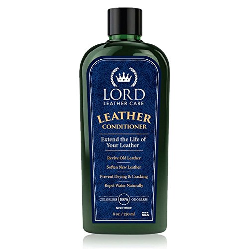 Lord Leather Care - Best Conditioner, Softener and Restorer for Auto, Furniture, Shoes, Boots, Saddles, Car Interiors, Tack and Luxury Handbags, 8 oz. - Non-Toxic and made in the USA!