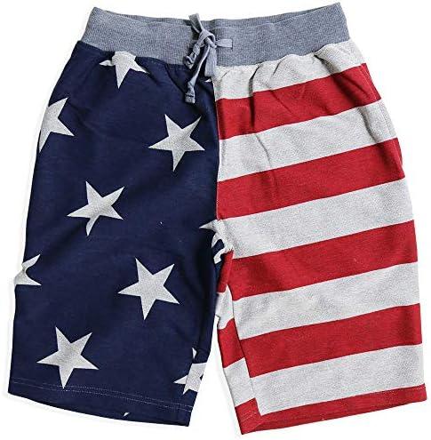 USA アメリカ柄 ショートパンツ メンズ 短パン ハーフパンツ 星条旗柄 アメリカ国旗 15-12460