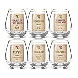 Funny Meritage Wine Vino Stemless Glasses Set of 6 Grasslands Road by Grasslands Roads