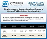Copper Compression Recovery Elbow Sleeve - Highest Copper Content Elbow Brace / Support. For Workouts, Golfers And Tennis Elbow, Arthritis, Tendonitis. Copper Infused Fit - Wear Anywhere. (Large)
