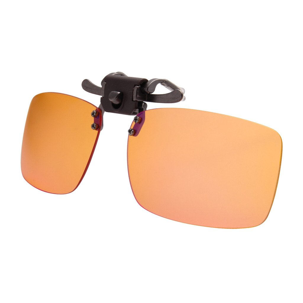 LIANSAN Computer Glasses Clip On Sunglasses Myopic Lens Blue light Blocking Gaming Eyeglasses Anti Glare Eye Strain Readers LS6260G orange