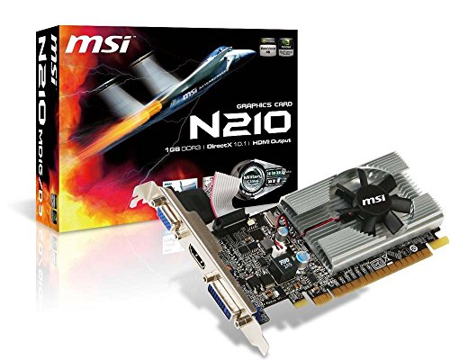 MSI Geforce 210 1024 MB DDR3 PCI-Express 2.0 Graphics Card MD1G/D3 (Renewed)