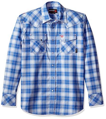 (ARIAT Men's Flame Resistant Simeon Retro Work Shirt, Multi, XXL R)