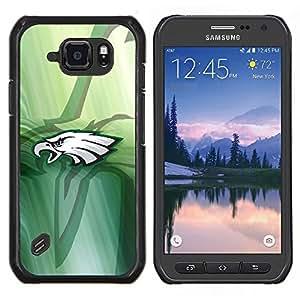 Hawk Equipo deportivo- Metal de aluminio y de plástico duro Caja del teléfono - Negro - Samsung Galaxy S6 active / SM-G890 (NOT S6)