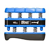 GRIP MASTER Gripmaster 14001-BLU Hand Exerciser Blue, Light Tension (5-Pounds per Finger)