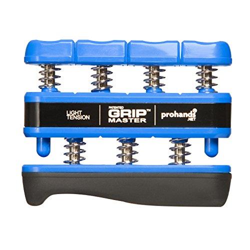 - Prohands Gripmaster Hand Exerciser, Finger Exerciser (Hand Grip Strengthener), Spring-Loaded, Finger-Piston System, Isolate and Exercise Each Finger, (5 lb Light Tension, Blue-Gripmaster)
